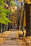 View of alley in Michael's garden. Saint-Petersburg. Russia Royalty Free Stock Image