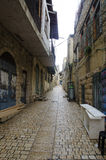 View of a alley in old Safed Stock Photography