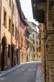 View into an alley. Of the old town of Verona in Italy Stock Photography