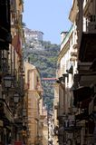 View of alleyway of sorrento. Street view of alleyway of sorrento city in a sunshine day Royalty Free Stock Photos