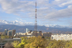 View of Almaty city Royalty Free Stock Images