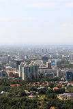 View of Almaty from hill Stock Photo