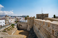 View of Almuñécar Almunecar castle on a beautiful day Royalty Free Stock Photos