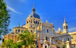 View of the Almudena Cathedral in Madrid, Spain Royalty Free Stock Photography