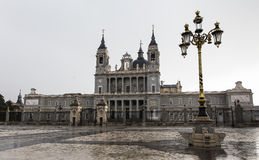 View of Almudena Cathedral Royalty Free Stock Image