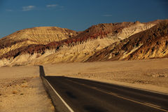 View along Badwater Road in Death Valley National Park Stock Image