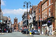View along Bridge Street, Chester. Royalty Free Stock Photo