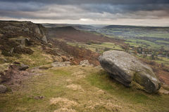 View along Curbar Edge towards Froggatt's Edge  Royalty Free Stock Photos