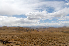 View along the Cusco-Puno Road, Peru Stock Photo