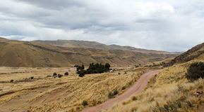 View along the Cusco-Puno Road, Peru Stock Photography