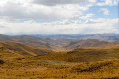 View along the Cusco-Puno Road, Peru Royalty Free Stock Image
