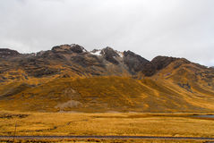 View along the Cusco-Puno Road, Peru Royalty Free Stock Photo