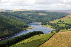 View Along the Derwent Reservoir Stock Photo