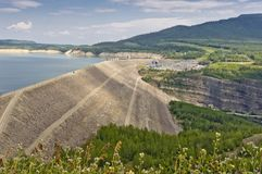 The WAC Bennett Dam Royalty Free Stock Image