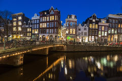 View along the Keizersgracht canal in Amsterdam Royalty Free Stock Photo