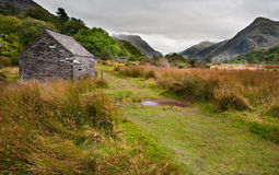 View along Llanberis Pass towards Glyder Fawr Royalty Free Stock Images