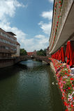 View Along a Nürnberg River Royalty Free Stock Photography