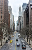 View along 42nd Street, Manhattan Royalty Free Stock Photography