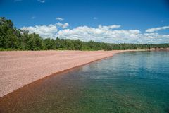 View along the shore of Lake Superior stock photography