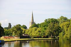 View along the river, Stratford-upon-Avon. Stock Images