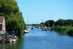 View along the river, Wareham. Royalty Free Stock Photos