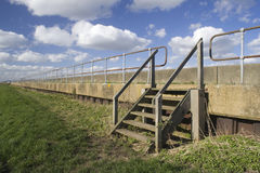 View along the sea wall on Canvey Island, Essex, England Royalty Free Stock Photography
