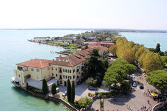 View along Sirmione peninsula, Lake Garda, Italy Royalty Free Stock Photography