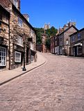 View along Steep Hill, Lincoln. Stock Photo