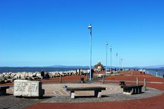 View along Stone Jetty, Morecambe, Lancashire Stock Photography