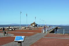 View along Stone Jetty, Morecambe, Lancashire Royalty Free Stock Photography