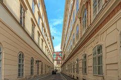 A view along street during the day. Vienna Stock Photos