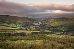 View along Swaledale in Yorkshire Dales National Park Royalty Free Stock Photo