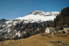 View along the way from  Switzerland to Tirano by Bernina expres Stock Image
