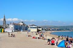 View along Weymouth beach. Stock Image