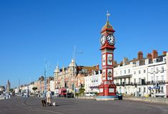 View along Weymouth promenade. Royalty Free Stock Images