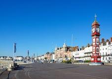 View along Weymouth promenade. Stock Photo
