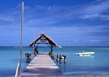 Pigeon Point jetty, Tobago. Royalty Free Stock Image