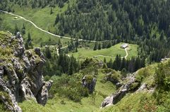 View of an Alp. In the Bavarian Alps (Germany Stock Photos
