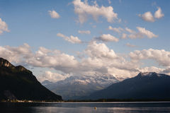 View on Alp mountain over Geneva lake Stock Photography
