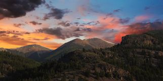 A View from the Alpine Loop at Sunset in the San Juan Mountains. Of Colorado Royalty Free Stock Images
