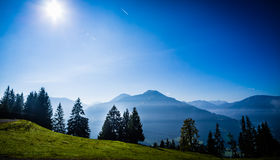 View on Alpine Mountain range near Brixen im Thale Stock Photography