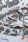 View on the alpine ski resort stock images