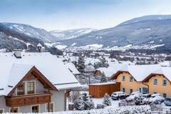 View of Alpine village at Austria Stock Photos