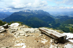 View of the Alps. Beautiful mountain scenery in central Austria Stock Images