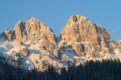 View of Alps. Dolomiti Italy royalty free stock photo