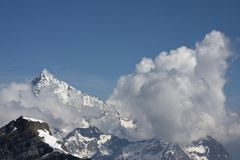 View of the Alps Aosta Valley Royalty Free Stock Image