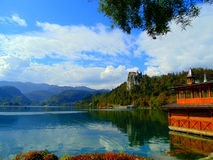 View of Alps and Lake Bled Stock Photos