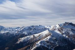 View of Alps at Mayrhofen ski resort. Tyrol, Austria Stock Image