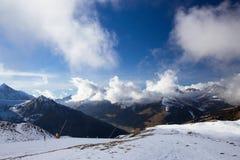 View of Alps at Mayrhofen ski resort. Tyrol, Austria Royalty Free Stock Photography