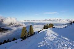 View of Alps at Mayrhofen ski resort. Tyrol, Austria Royalty Free Stock Images